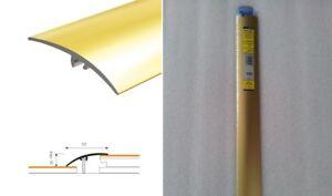 Dural Multifloor Door Bar Threshold  Strip Cover Gold Aluminum W 50mm L 93cm