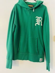 Mens Ralph Lauren Hoodie Size Small Distressed Vintage Rugby Pull Over Polo RL