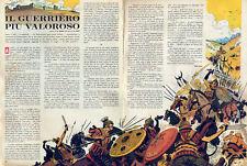corriere dei piccoli il guerriero più valoroso dessin par HUGO PRATT orig.1963