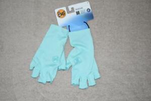 Buff Fishing Water Solar Gloves UPF 50 Large Aqua 15626 NWT