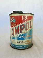 RARE EARLY AMPOL ONE PINT OIL TIN CAN