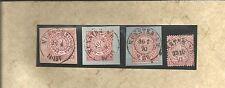 Pr Vor / MÜNSTER i./W., je K2 auf 3 Briefstücken 1869/70/71 + auf Reichspostvorl