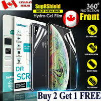 For Apple iPhone 12 11 Pro Max XR XS 7 8 6 Plus Hydrogel Full Screen Protector