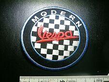 VESPA Aufnäher VESPA Patch ``Modern Vespa´´ Start/Checkered Flag 7,7 cm dN IRON