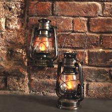 2x Energia Solare Vintage Bronzo MINATORI le lanterne appese luci giardino campeggio