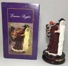 Duncan Royale Medieval Santa Music Box Plays Silent Night Numbered