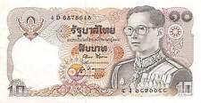 Thailand  10 Baht  ND. 1980  P 87  Series  4 D  Sign. # 52 Circulated Banknote