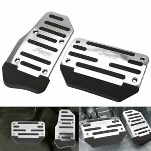 2pcs Universal Non-Slip Automatic Gas Brake Foot Pedal Pads Cover Car Accessory