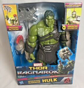 Marvel Hulk Interactive Gladiator Thor Ragnarok Incredible Sounds Action Figure