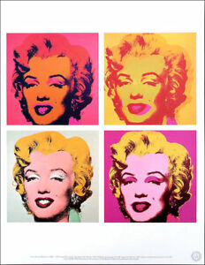 Andy WARHOL Marilyn Quad 1967 Official Authorized Litho Print 1989