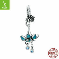 Real 925 Sterling Silver Charm Bead For Women Girls Fashion Pendant Dream Orchid