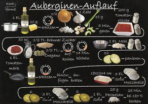 Karte: bebildertes Rezept - Auberginen-Auflauf