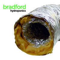 Hydroponics Low Noise Black Acoustic Ducting 315mm x 10m Indoor Growing