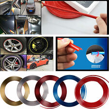 Car Tuning Trend Vehicle Wheel Rim Protector Tire Guard Line Rubber Moulding Red