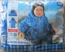 Jungen Winter Overall * Schneeanzug *62/68 * Blau Kariert*Kapuze*lupilu*Neu*OVP