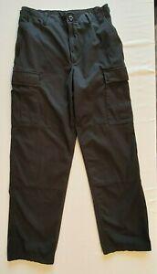 PROPPER MEN'S PANTS SMALL BLACK BDU CARGO PANTS W/BELT & 2 KEEPERS