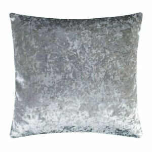Crushed Velvet Cushion Cover in Silver Grey 45cm x 45cm