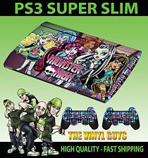 Playstation ps3 super slim monster high vampire loup PEAU AUTOCOLLANT & 2 pad peau