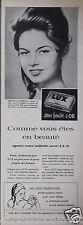 PUBLICITÉ 1957 SAVON LUXE BRIGITTE BARDOT VOUS ÊTES EN BEAUTÉ - ADVERTISING