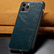 SLIM Leather Back Ultra Thin TPU Case Cover for iPhone 11 Pro Max XS XR 8/7 Plus