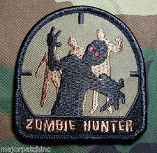 ZOMBIE HUNTER US ARMY USA MILITARY MORALE MILSPEC FOREST BADGE VELCRO PATCH