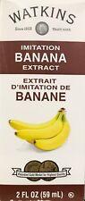 Watkins Banana Imitation Extract 2 oz 59 ml USA Fresh Non Gmo Gluten Free