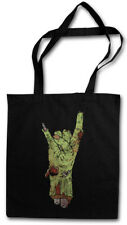 ZOMBIE METAL FIST STOFFTASCHE Hard Rock Sign Hand Fun Devil Horns Faust