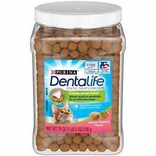 Purina DentaLife Made in USA Facilities Cat Dental Treats, Savory Salmon