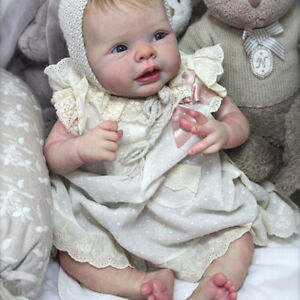 "22/"" Blank Vinyl Reborn Doll w// Cloth Lifelike Kit Supplies Normal Skin"