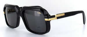 Cazal 607/3 Sunglasses 607 Half Snake Skin Color 705 Black Gold Authentic New