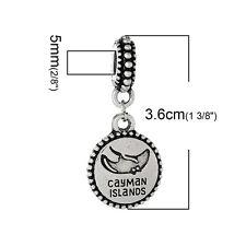 """Cayman Island"" Charm Bead Spacer for snake chain bracelets 2685"