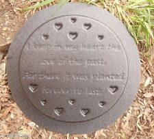 plastic memorial I keep plaque mold garden ornament  plaque / stepping stone