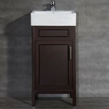 Vitreous China Vanity Top Basin Small Bathroom Pedestal Sink Cabinet Modern