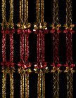 Pack Of 2 - 9ft Red And Gold Foil Garland Christmas Decoration (DP73 x2)
