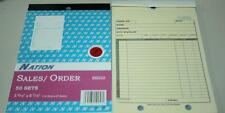 "1000 Carbonless 2 part 5 9/16 x 8 7/16""  Sales Order Invoice Receipt Book"