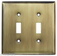 Double Light Switch Wallplate Wall Plate Outlet Cover Antique Bronze Brass
