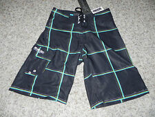 BILLABONG PLATINUM MENS 28 BLACK MULTI BOARD SHORTS PX:4 HYDROSTRETCH NWT $49.5