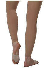 Body Wrappers C33 Girl's Size Medium/Large (8-14) Suntan Footless Tights