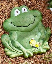 Frog Animal Garden Stepping Stone Statue Cement Yard Outdoor Pet Country Decor