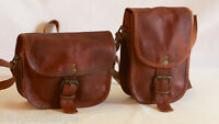 "Handmade Goat Leather 7"" Satchel Messenger Hand Bag M/SXXSR Billy Goat Designs"