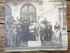 LORRAINE - PHOTOGRAPHIE 1900 MONTEUR EN CHAUFFAGE DIJON HOPITAL MILITAIRE NANCY
