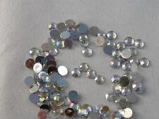 100 Glitzersteine / Rhinestones - Silber 5 mm - Shiny Mix