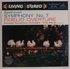 BEETHOVEN: Symphony 7 Reiner RCA LIVING STEREO  LSC-1991 SD Vinyl LP