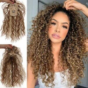 Corn Wavy Hairpiece Clip in Hair Extensions With Bangs Synthetic Invisible Head