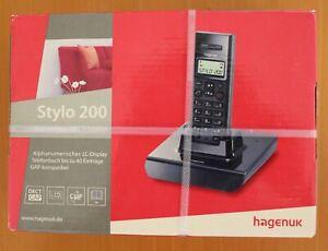1 x HAGENUK STYLO 200 DECT TELEFON Rech inkl. MwST