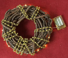 Decorative Christmas Wreath Metal Ring, 50 Light Led Lulea Collection 17' Feet,