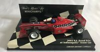 Minichamps 1/43 Scale Model Car 400 030301 -  F1 U.S. Grand Prix Event car 2003