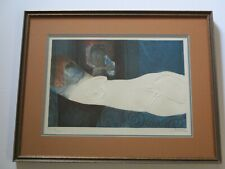 RARE SUNOL ALVAR NUDE LITHOGRAPH CUBIST CUBISM EMBOSSED LIMITED SIGNED ABSTRACT