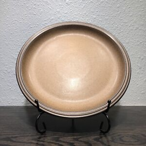 "Hall Artistone Denby England Brown 9 1/4"" Salad Plate"