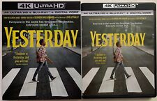 YESTERDAY 4K ULTRA HD BLU RAY 2 DISC SET + SLIPCOVER SLEEVE FREE SHIPPINGBEATLES